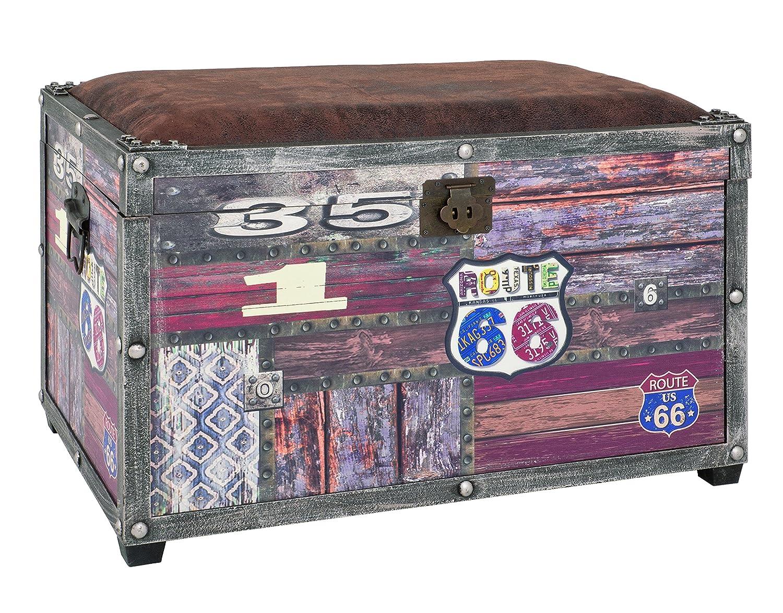 Haku Möbel 30994 Coffre de Rangement Vintage 40 x 65 x 42 cm