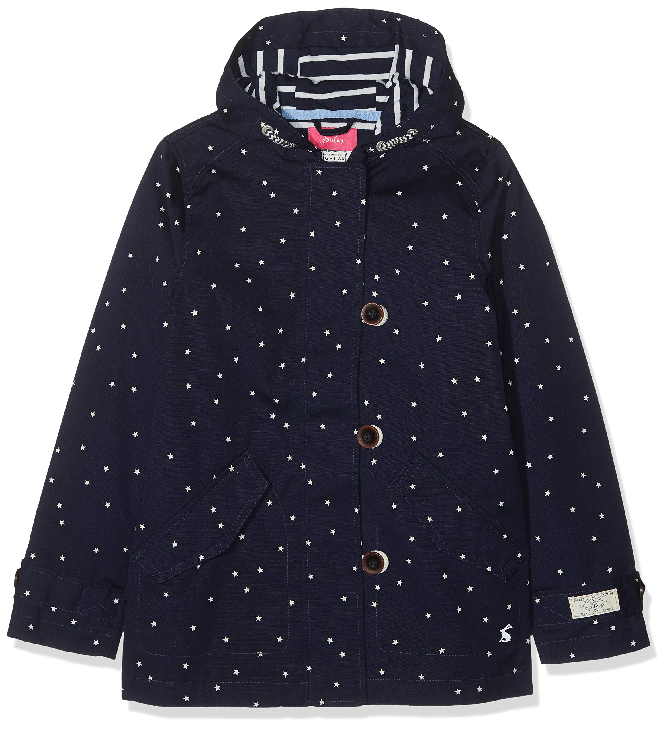 Joules Outerwear Girls' Little Coast, Navy Star, 5 by Joules Outerwear