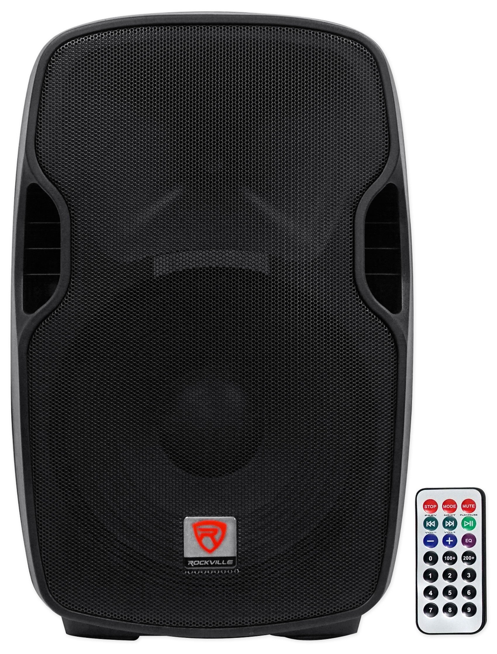 Rockville BPA15 15'' Professional Powered Active 800w DJ PA Speaker w Bluetooth