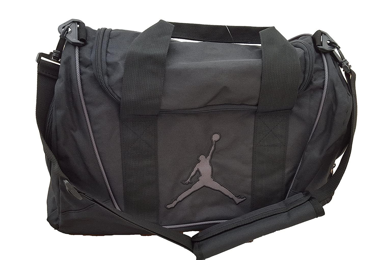 adb67b408f Nike Air Jordan Duffel Gym Bag Basketball Tote Black Tote Travel Duffle BaG