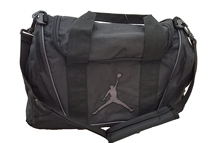 480ea19cedd Image Unavailable. Image not available for. Color: Nike Air Jordan Duffel  Gym Bag Basketball Tote Black ...