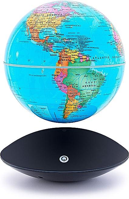 Globo magnético flotante de 15,2 cm con diseño de mapamundi y luz ...