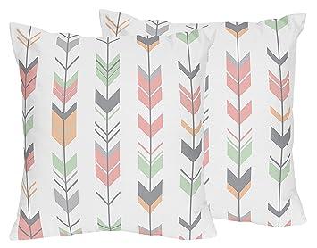 Amazon.com: Sweet diseños Jojo Gris, Coral y menta Flecha ...