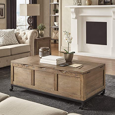 Amazon Com Mikesell Lift Top Coffee Table Kitchen Dining