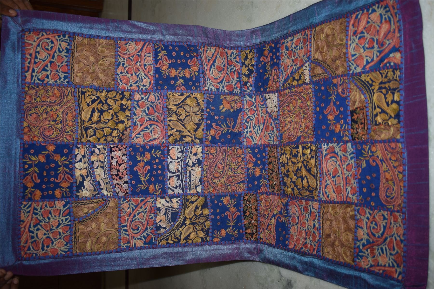 INDIA HANDMADE PATCHWORK WALL HANGING EMBROIDERED VINTAGE TAPESTRY 121