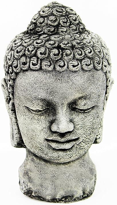 Genial Buddha Head Concrete Garden Statue