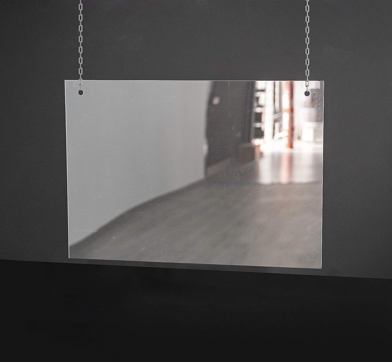 Mampara de Protección | Material Policarbonato Transparente Filtro UV | Cadena no Incluida | 2 mm de Grosor | 102 X 70 cm: Amazon.es: Hogar