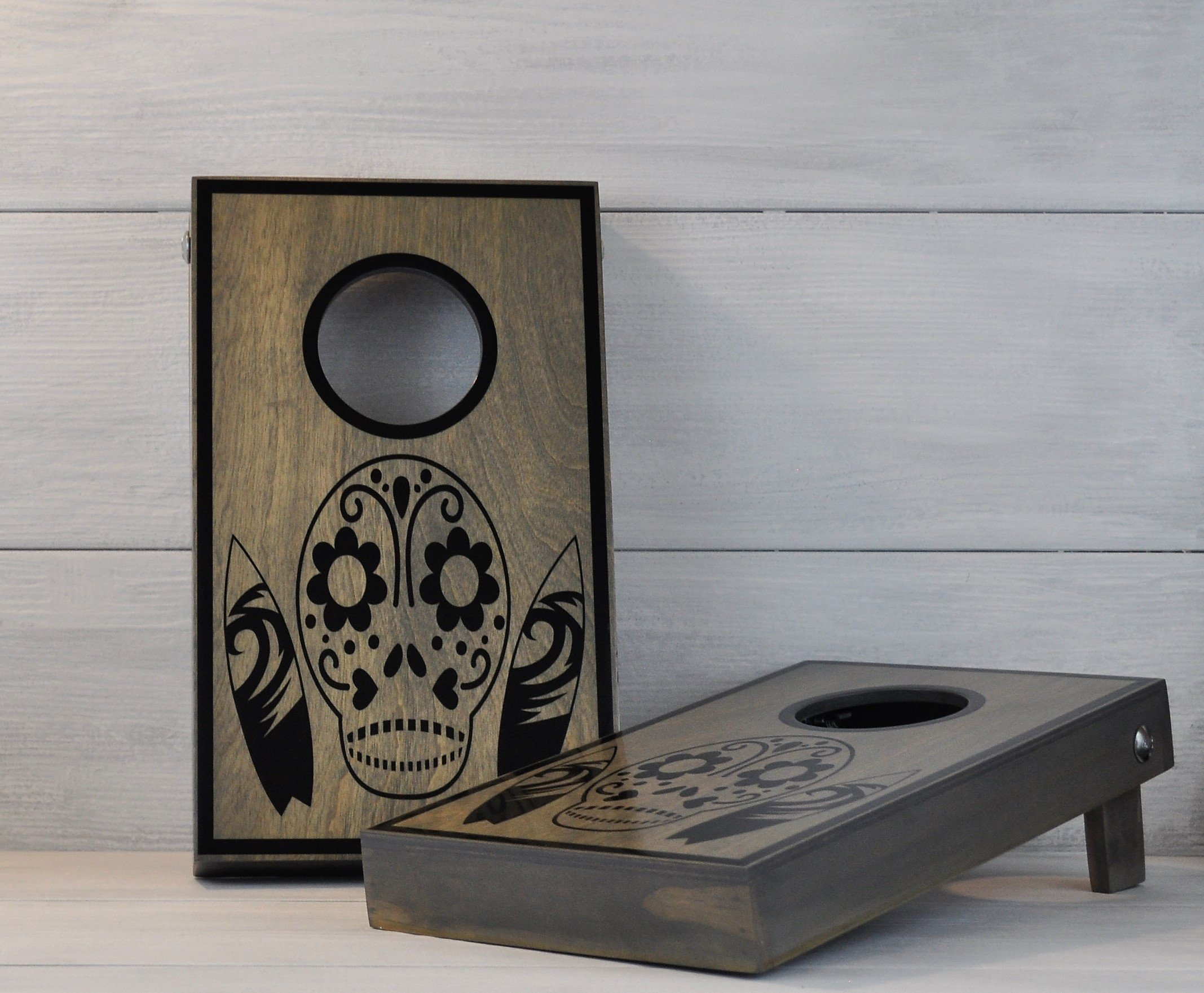 Bar Games, Mini Cornhole, Sugar Skull, Day of the Dead, Office Games, Racing Gift, Nascar Gift, Tailgating, Corporate Gift, RV Gift, Camping
