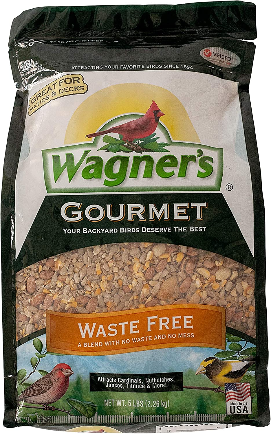 Wagner's 82056 Gourmet Waste Free Wild Bird Food, 5-Pound Bag