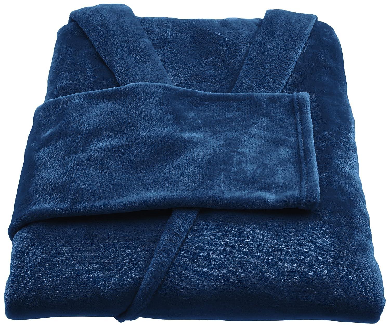Azul Manta polar con mangas y bolsillo para los pies 150 x 180 cm Basics