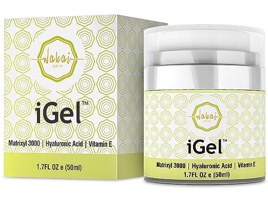 Wakai iGel Anti Aging Eye Cream – Lifting & Firming Under Eye Cream Combats Puffiness, Dark Circles & Wrinkles, With Organic Ingredients & Vitamins – Fast Absorbing & Light Formula