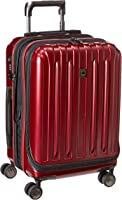 Delsey Luggage Helium Titanium International Carry-On EXP Spinner Trolley Red