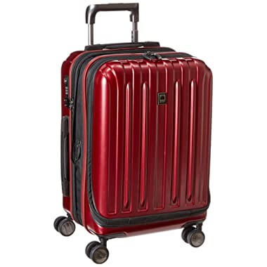 DELSEY Paris Luggage Helium Titanium International Carry On Expandable Trolley-19  Front Pocket Hard Case Spinner Suitcase, Black Cherry, One Size