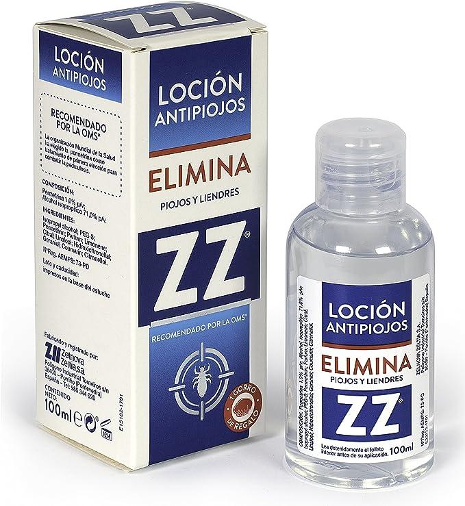 ZZ Loción Insecticida Antipiojos Con Permeterina Elimina Piojos y ...