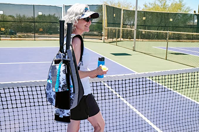 4e683cd4c7e4 Amazon.com   GloveIt Women s Tennis Backpack - Tennis Gear Bags for Women -  Ladies Tennis Racket Backpacks - Tennis Bag for Tennis Balls