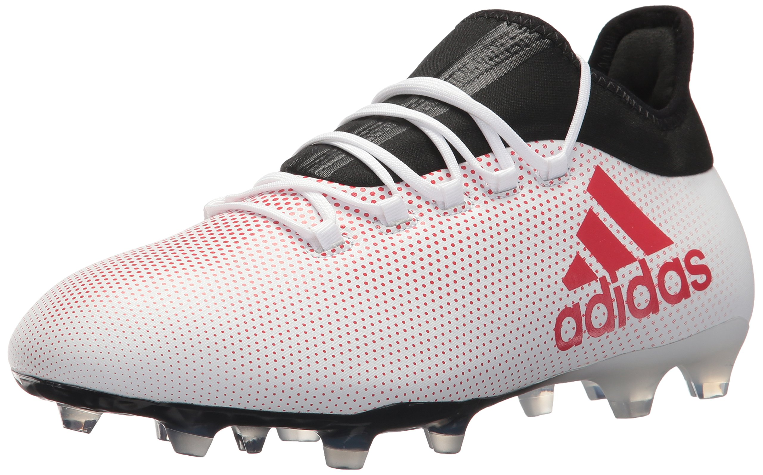 adidas Men's X 17.2 FG Soccer Shoe, Grey/Real Coral/Core Black, 8.5 M US by adidas