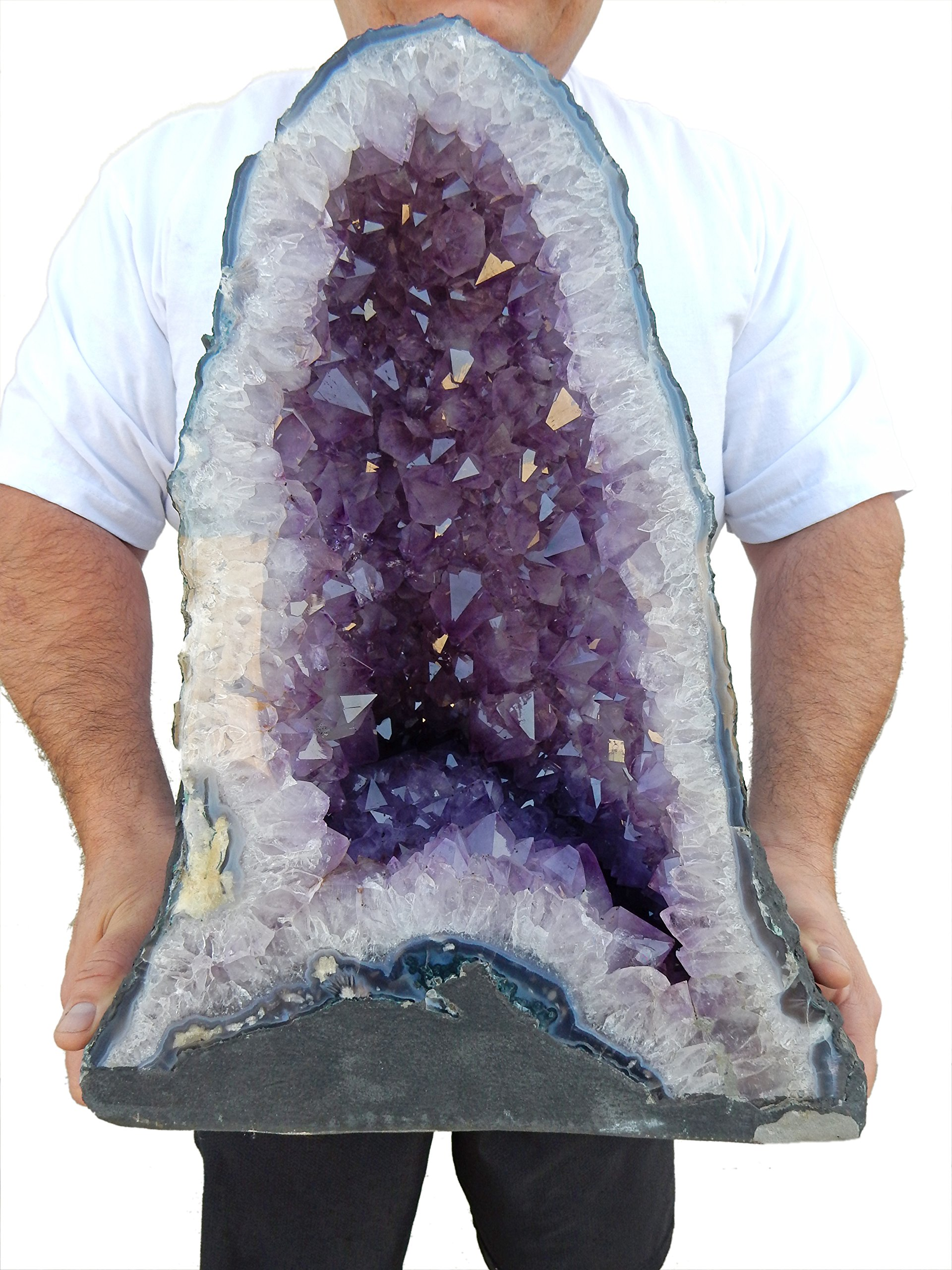 Large Amethyst Crystal Cathedral ~ Raw Amethyst Stone Geode ~ 71.5 lb Amazing Amethyst Cluster by Beverly Oaks (AC-26A)