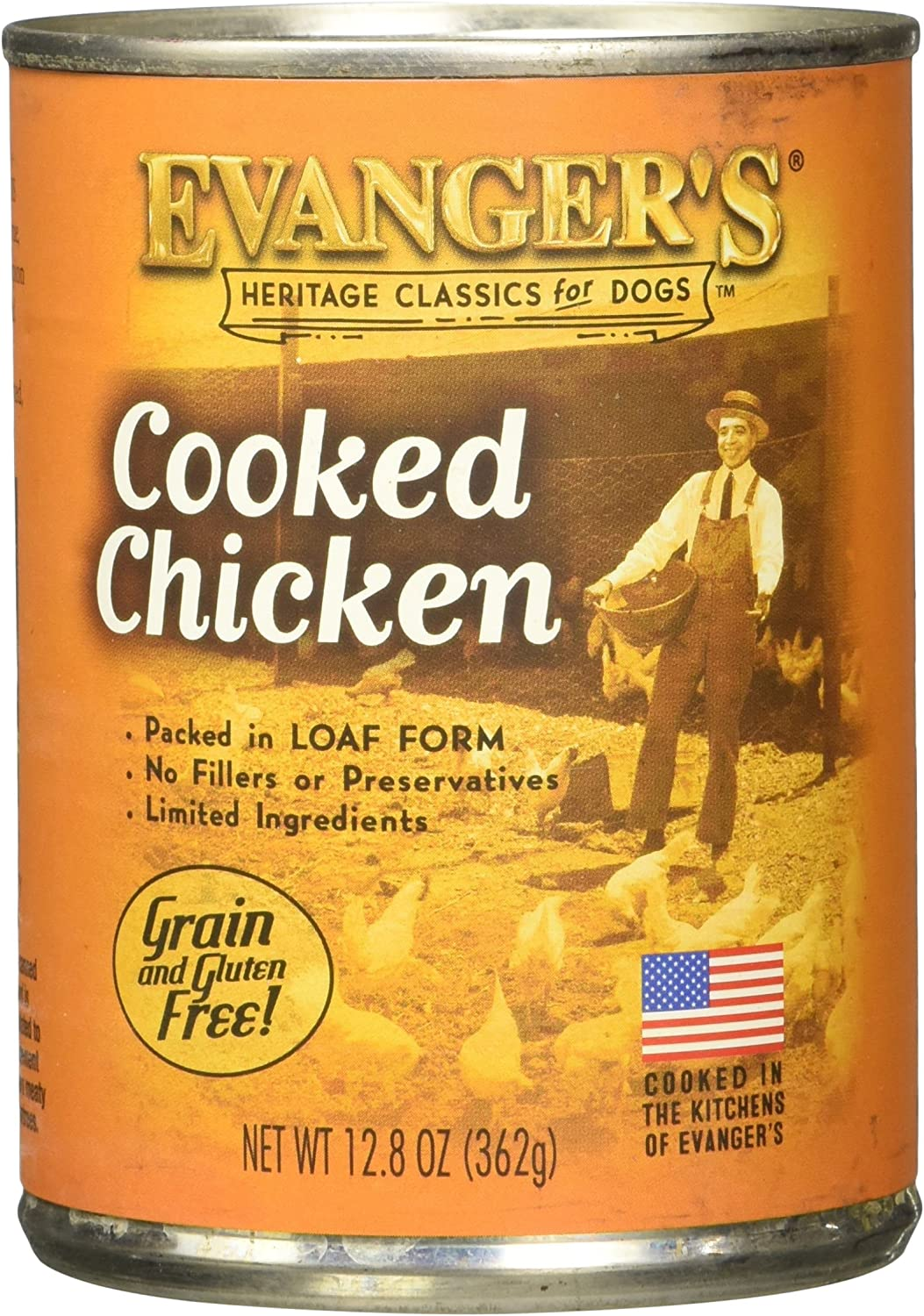 Evanger s All Natural Classic Cooked Chicken Canned Dog Food 12.8 oz. 12 in case