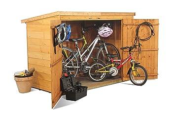 BillyOh - Cobertizo para bicicletas (con tejadillo, machimbre): Amazon.es: Jardín