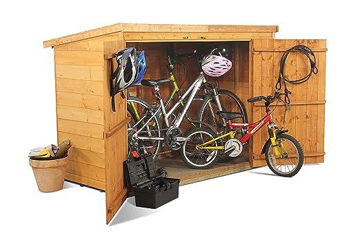 BillyOh - Cobertizo para bicicletas (con tejadillo, machimbre ...