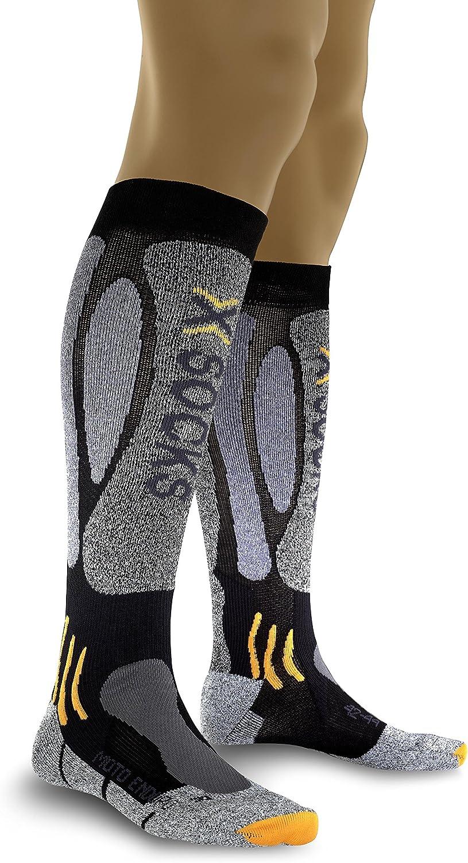 X-Socks Paire de Chaussettes Moto Enduro Multicolore Noir//Anthracite 39-41