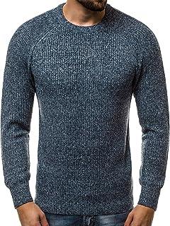 a0dbaed4e6f0 OZONEE Herren Strickpullover Pullover Feinstrick Sweatshirt Pulli Modern  Basic U-Neck Täglichen HR 1807