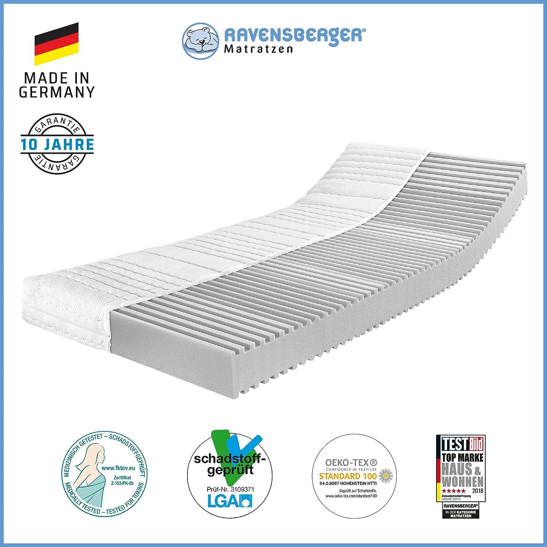 Ravensberger Matratzen® 7-Zonen Matratze Softwelle   HR Kaltschaummatratze H1 RG 45 (0-45 kg)   MADE IN GERMANY - 10 JAHRE GARANTIE   ÖKO-TEX® 100 Bezug Baumwoll-Doppeltuch 80x200 cm