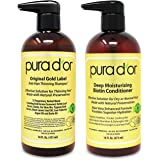 PURA D'OR Biotin Original Gold Label Anti-Thinning (16oz x 2) Shampoo & Conditioner Set, Clinically Tested Effective Solution