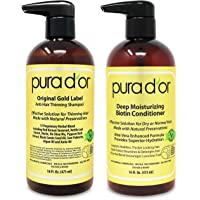 PURA D'OR Biotin Original Gold Label Anti-Thinning (16oz x 2) Shampoo & Conditioner Set, Clinically Tested Effective…
