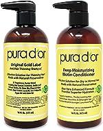 PURA D'OR Biotin Original Gold Label Anti-Thinning (16oz x 2) Shampoo