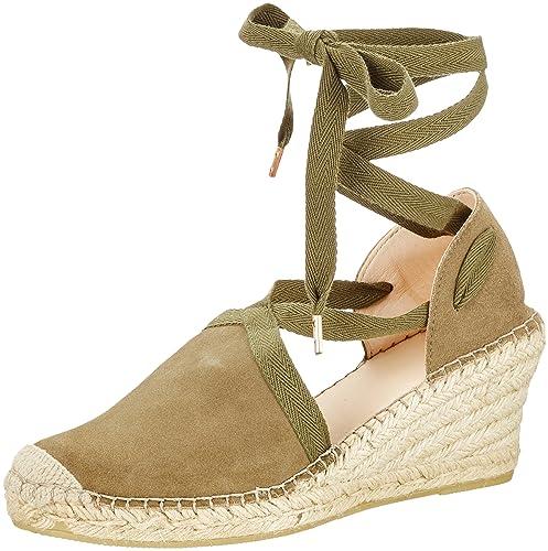 Fred de la Bretoniere Keilsandale, Alpargatas para Mujer: Amazon.es: Zapatos y complementos