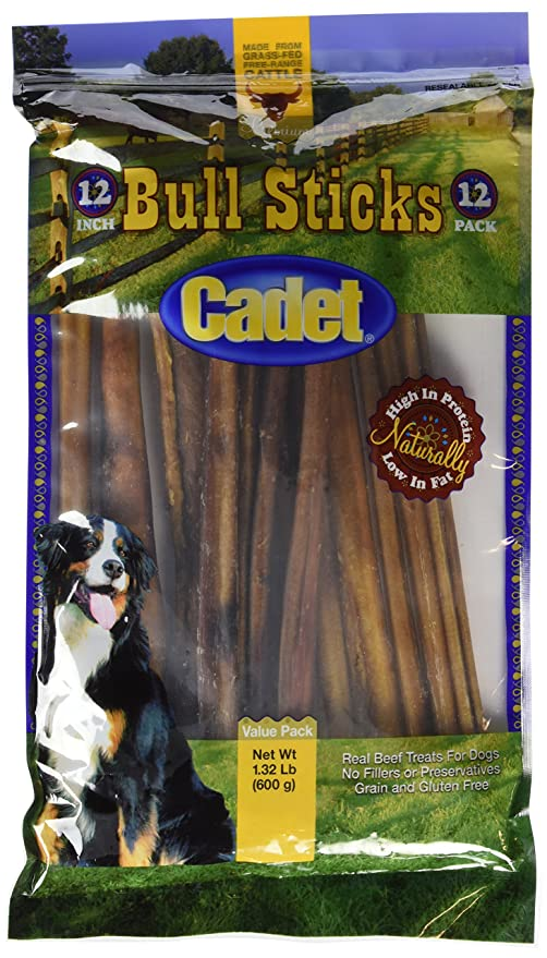Amazoncom Cadet Gourmet Bull Sticks 12 Pack Pet Rawhide Treat