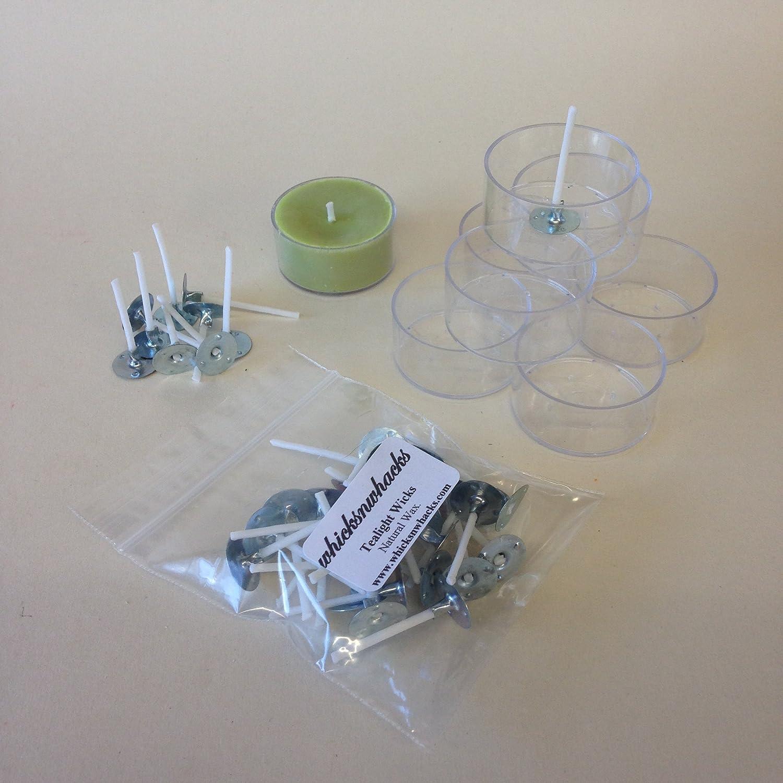 WHICKSNWHACKS 25 Stück Teelichter Becher aus Polycarbonat und ...