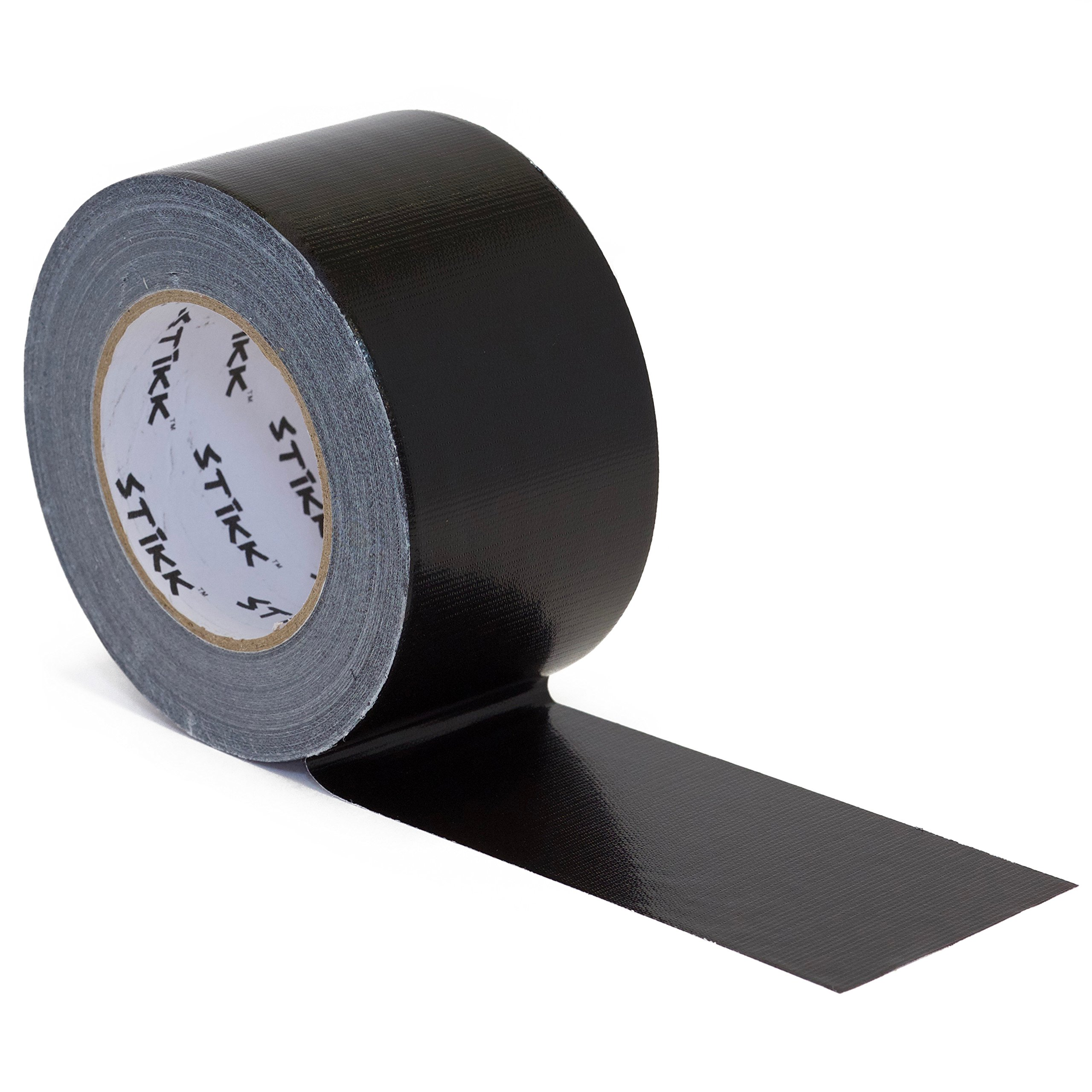 3'' x 60 yd 7.5 Mil Thick Black Duct Tape PE Coated Weather Resistant (2.83 IN 72MM)