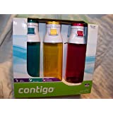 Contigo 24oz Jackson Water Bottles, 3 Pack