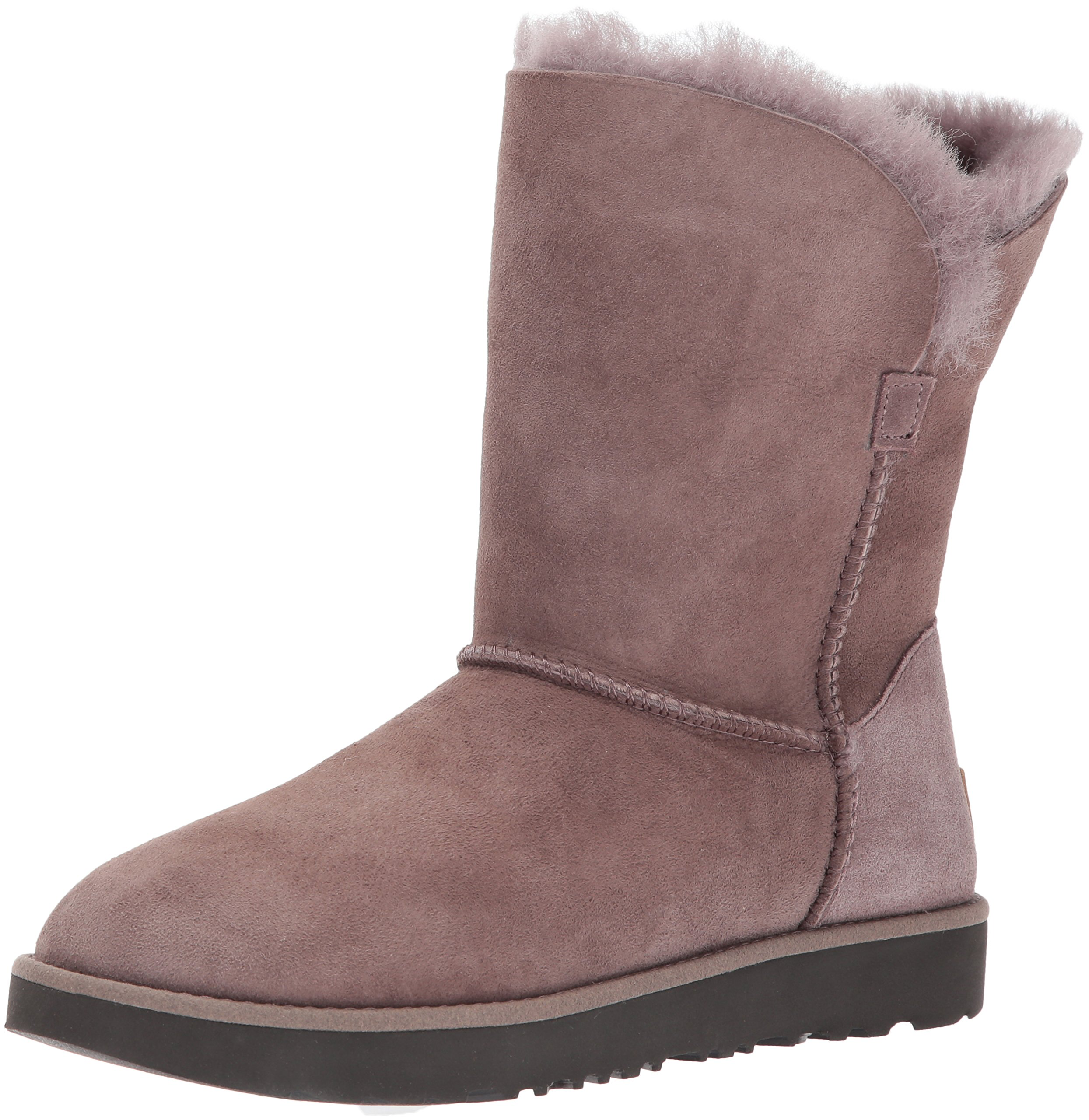 UGG Women's Classic Cuff Short Winter Boot, Stormy Grey, 8 M US by UGG