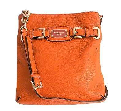 7db0e9e31fa8 ... canada michael kors hamilton genuine leather large crossbody bag  tangerine 9cfda 392d3