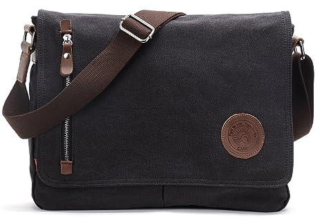 Amazon.com: Canvas Satchel Messenger Bag By Magictodoor 13.5
