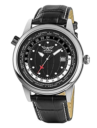 6b49e8716a5eff Aviator World Cities 3 Hand Watch for Men - Aviation Classic Quartz Flight Series  Aviators Collection