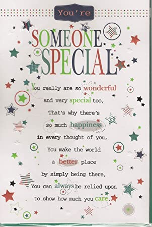 Amazing Someone Special Birthday Card Youre Someone Special Male Or Personalised Birthday Cards Rectzonderlifede