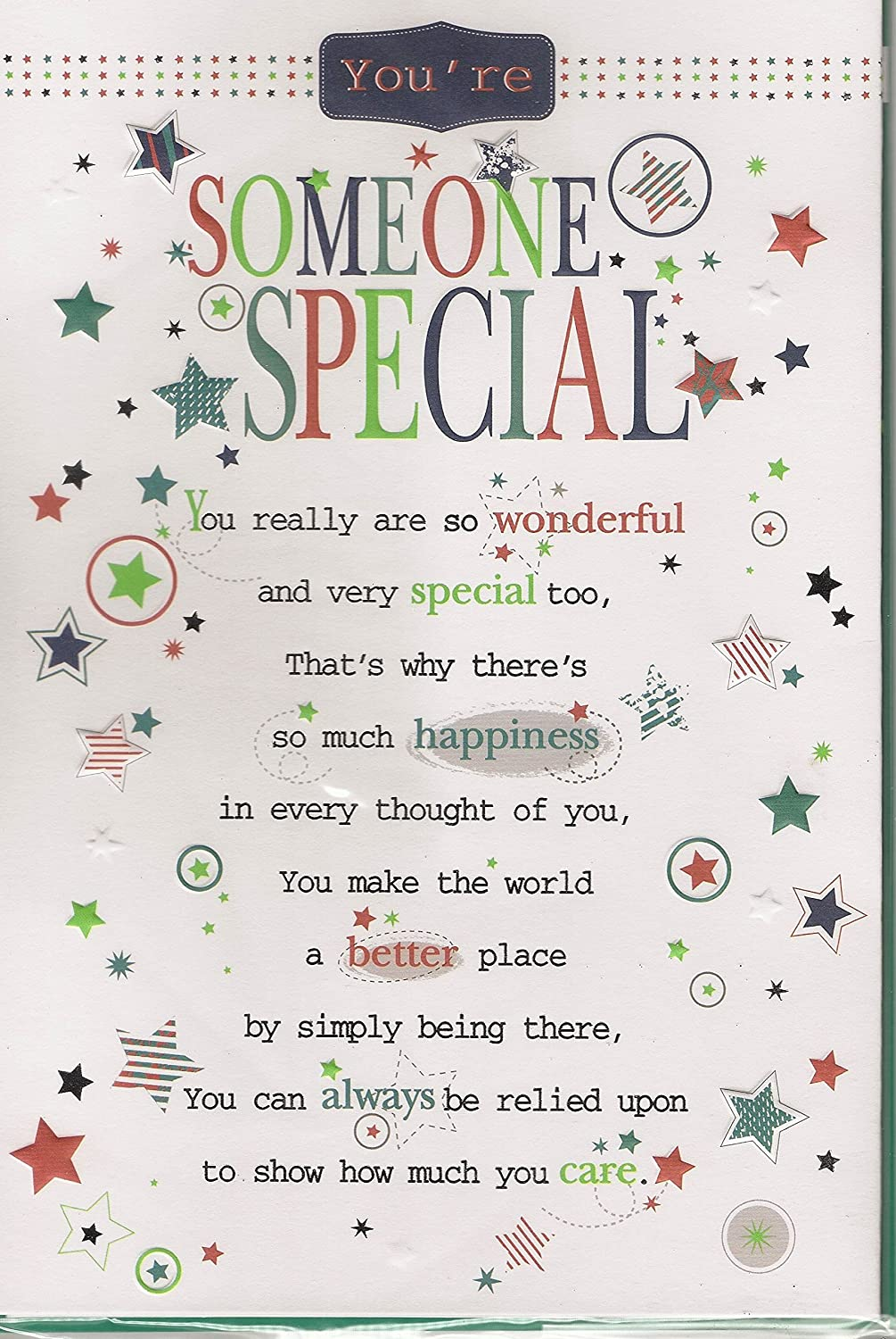Someone Special Birthday Card Youre Someone Special Male or – Special Birthday Cards for Someone Special