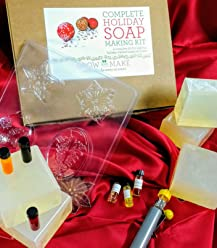 Grow and Make DIY Holiday Soap Making Kit - Make your own festive soap for the holidays!