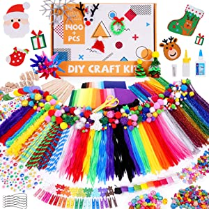 Tiny Castle 1400+ Piece Creative Art and Craft Supplies for Kids | DIY Art Supply Kit for Toddler Girls and Boys | All in One Gift Craft Box School Kindergarten Homeschool Activities
