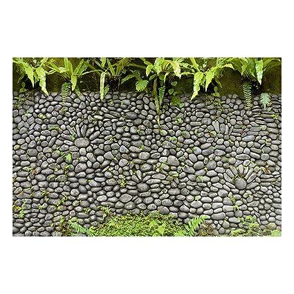 Bilderwelten Pizarra magnética - Stone Wall With Plants ...