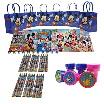 Dreamshop14 Mickey and Friends Goody Bag and Coloring Book Party Favor Set (42 Pcs) FV: Toys & Games