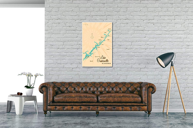 Excellent Amazon Com Lake Guntersville Alabama Vintage Style Map Art Pdpeps Interior Chair Design Pdpepsorg