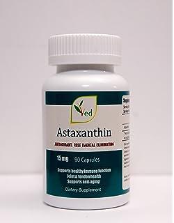 Astaxantina 15 mg x 90 Cápsulas: potente antioxidante para la inmunidad, articulaciones fuertes,
