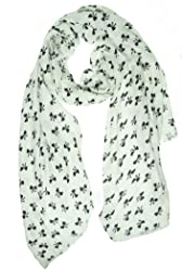 Style & Co. Womens Bows Rectangle Scarf, Lilly White