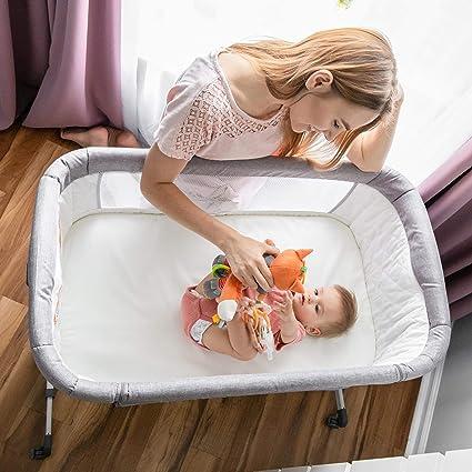 Bundle with Waterproof Fitted Sheet Papablic 2-in-1 Bonni Baby Bassinet /& Bedside Sleeper