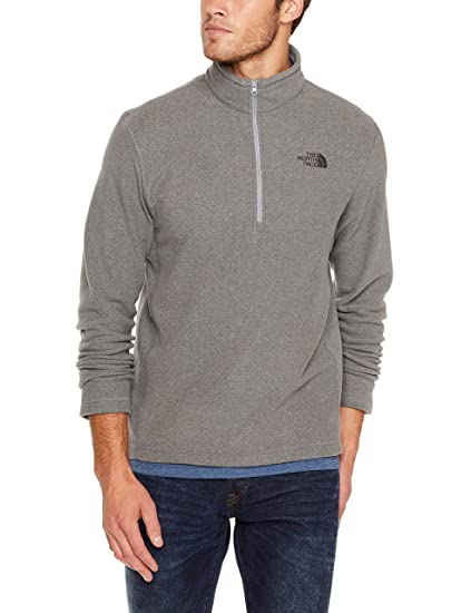 704c4f863 The North Face TKA 100 Glacier Half Zip Fleece Mid-Layer Mens